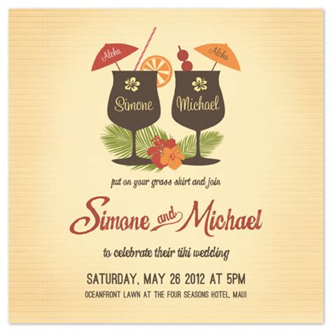 luau wedding invitations wedding invitations tiki luau at minted