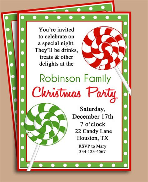 printable christmas party invitations 7 best images of free printable christmas invitation