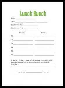 office lunch order form template lunch bunch savvy school counselor