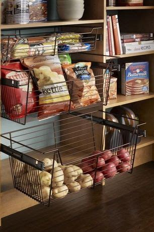pantry with open shelving pull out pantry