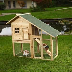 Rabbit Cage Hutch Xxl Hasenstall Holz Kaninchenstall Freilaufgehege Stall