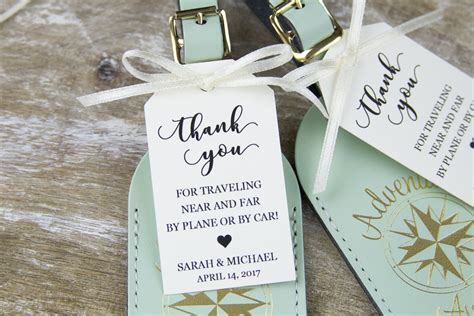 Wedding Favors Tags by Thank You Tag Wedding Favor Tag Luggage Favor Tag