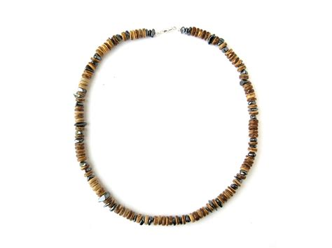 mens wooden beaded necklaces matter s beaded hematite necklace authentic