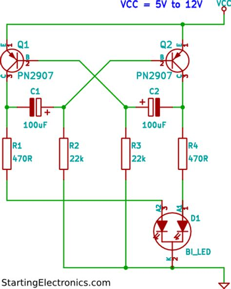 led blinker circuit diagram 12v led flasher circuit diagram 12v get free image about