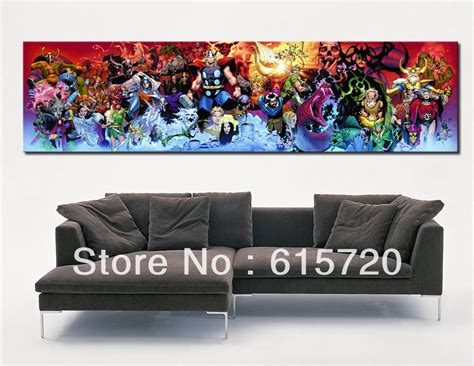 painting decor marvel comics thor poster fine art prints giclee on canvas