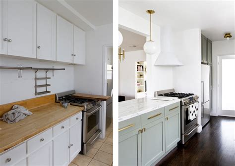 Sarah Sherman Samuel:kitchen before & after   Sarah