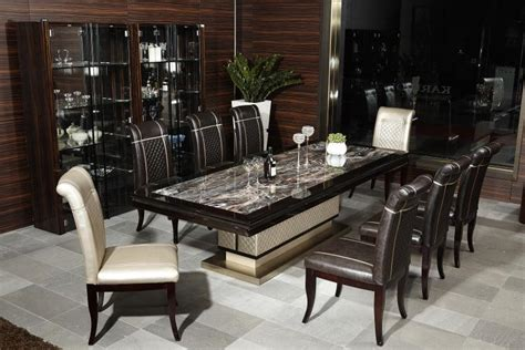 luxury modern dining tables kd934e european luxury home used furniture modern marble