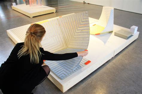Design Academy Eindhoven Library | sam linders develops foldable seat solution using