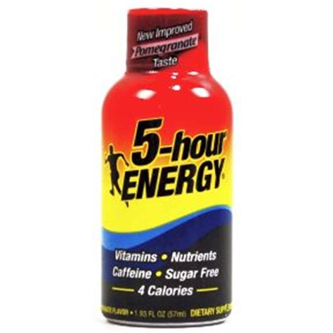 energy drinks 5 hour 5 hour energy drink dietary supplement pomegranate