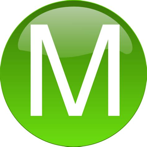 M M Clipart green m clip at clker vector clip royalty free domain