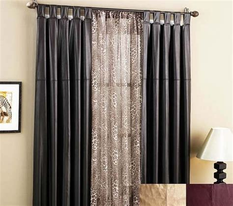curtains with blinds ideas door window treatments black curtains fabulous ideas