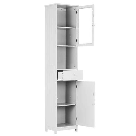 ikayaa modern tower tall wooden floor cabinet  doors