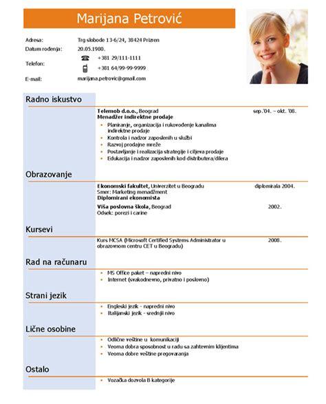 format obrazac za cv cv radna biografija infostar