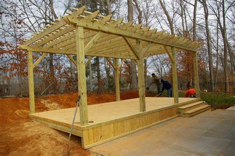Build A Free Standing Deck Plan Http Lovelybuilding How To Build A Free Standing Pergola