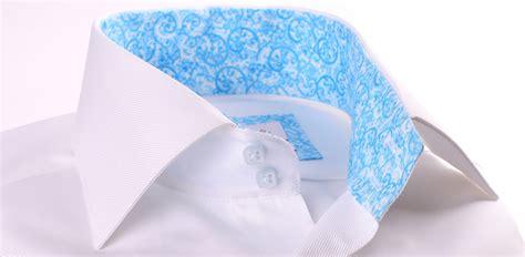 pattern blue workman s shirt white shirt with light blue pattern collar and cuffs
