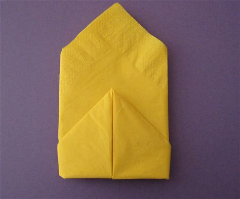 Simple Paper Napkin Folding - how to fold a simple 2 layer napkin fold