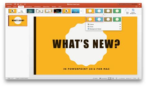 What S New In Powerpoint 2016 For Mac Office Blogs New Design For Powerpoint