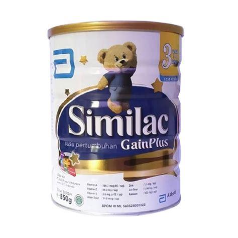 Similac Gain Plus 3 850 Gr jual similac gain plus bayi vanila 850 g harga kualitas terjamin blibli