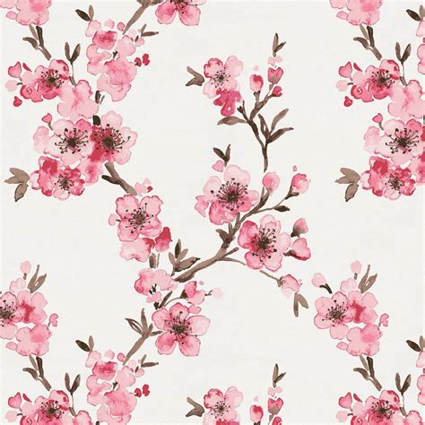 cherry blossom upholstery fabric pink cherry blossom fabric by the yard pink fabric