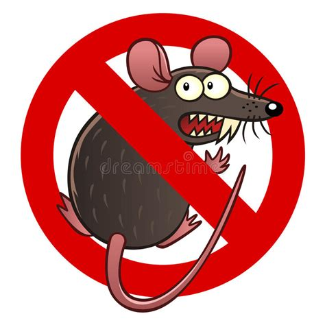 Mouse X7 Anti Vibrate anti mouse sign stock vector illustration of parasitic