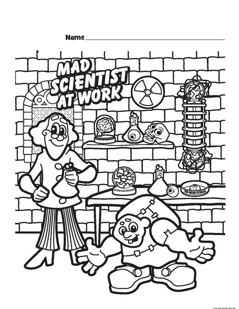 coloring book for scientists mad scientist printable coloring pages for