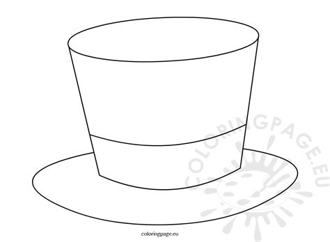 Top Hat Magician Template Coloring Page Hat Template