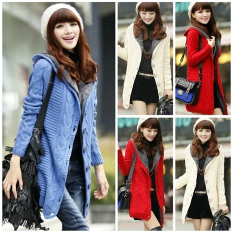 Pakaian Wanita Baju Wanita Jaket Wanita Murah Jaket Catty Benh jaket wanita korea knitted jacket coat korea