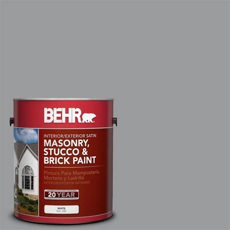 behr premium 1 gal ms 82 cobblestone grey elastomeric masonry stucco and brick paint 06801