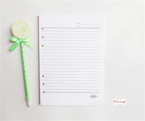 Kecil Isi Kertas File Binder Leaf Big 100 Sheets Lembar A5 ukuran kertas untuk binder kus kamu binder murah