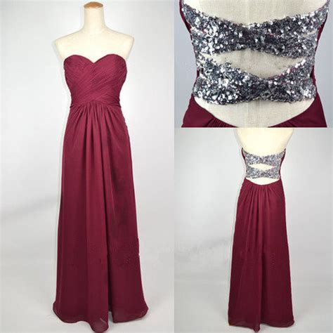 maroon color prom dress shiny burgundy a line sweetheart floor length prom dress