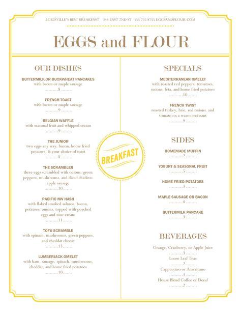 design menu tips design of the week a breakfast menu 3 marketing tips