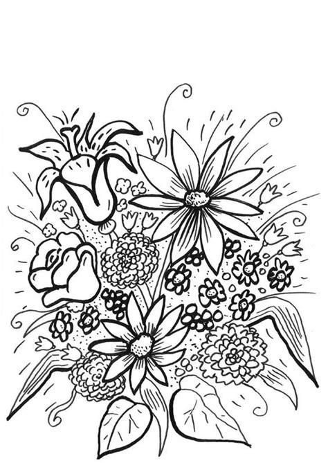 imagenes de flores hermosas para imprimir flores silvestres dibujo para colorear e imprimir
