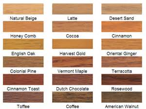 colors of wood wood stains and stain colors ridge millwork