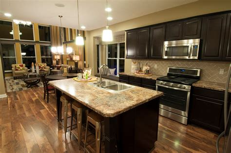 Model Kitchen Designs M I Homes Of Columbus Waterford Park Parkside Model Transitional Kitchen Columbus By