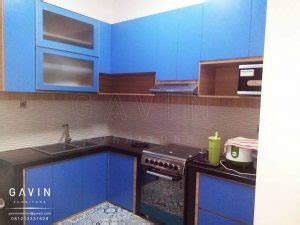 Kitchen Set Multiplek Hpl inspirasi gambar kitchen set minimalis warna biru di kreo