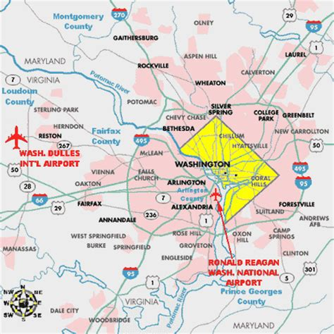 airports in washington dc map airports in washington map