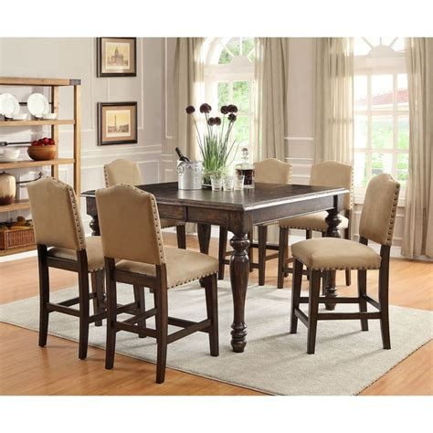 Counter High Dining Room Sets by Garrett Counter Height Dining Set 7 Pc Sam S Club