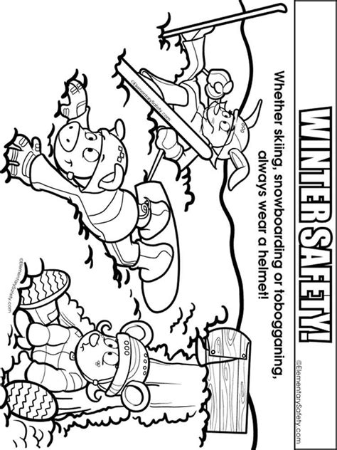 safety coloring pages winter safety coloring pages free printable winter safety