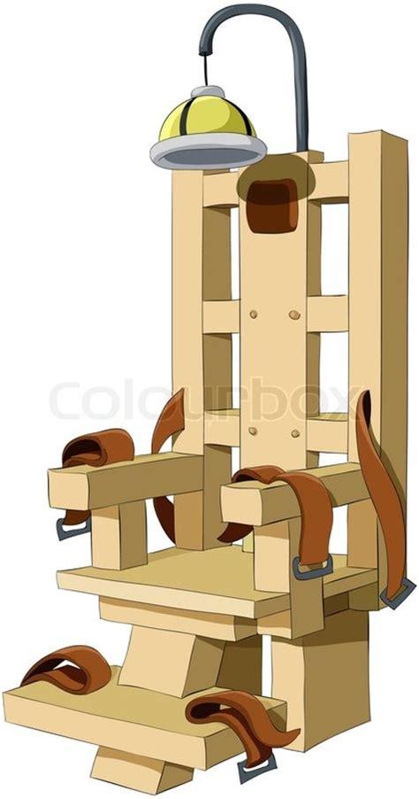 elektrischer stuhl elektrischer stuhl vektorgrafik colourbox