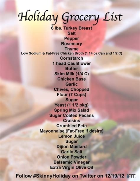 list of food to bring to christmas party dinner with chef in and ifit chef in
