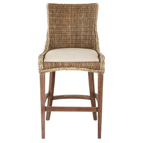 home decorators bar stools home decorators collection genie 46 in grey kubu wicker