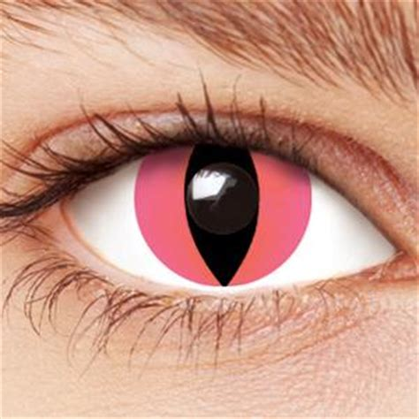 pink cat contact lenses