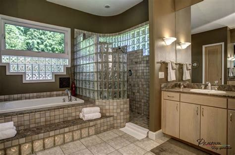 glass block bathroom design ideas glass block wall decor