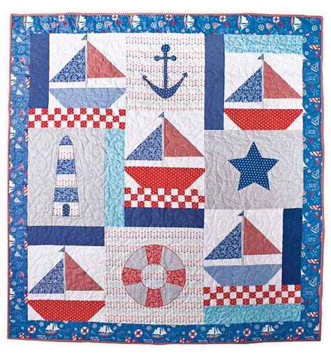 Nautical Quilts by Nautical Quilt Sailboat Quilts