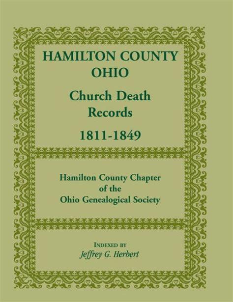 Hamilton County Ohio Records Hamilton County Ohio Church Records 1811 1849 By