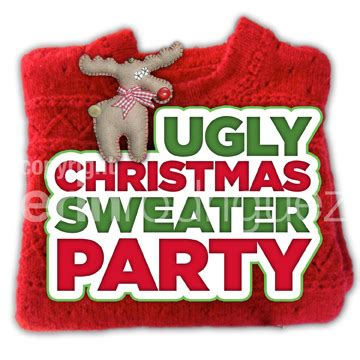 ugly christmas sweater party logo | erin rodriguez | flickr