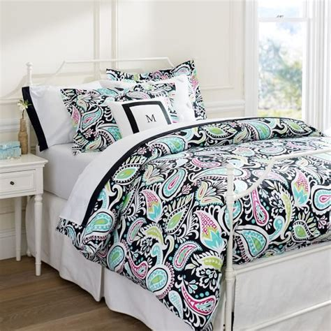 pbteen bedding lola paisley duvet cover sham pbteen room ideas