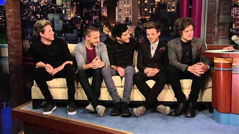 one direction sofa david letterman one direction on the giant couch hd