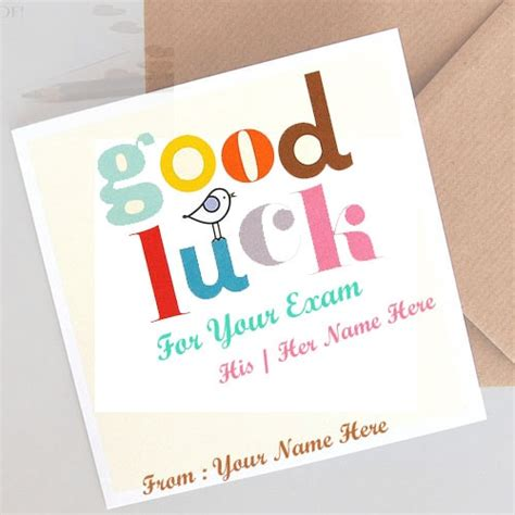 luck card word template luck wishes for with name editing