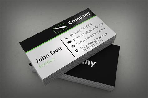 black and white business cards templates psd 25 best free psd business card templates designssave